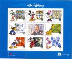 2001 100 Ans De La Naissance De Walt Disney, 1 Bloc Mnh - Disney