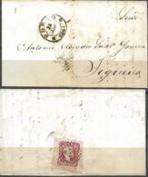 Portugal 1861 Carta C/ Selo De 25 Reis D. Pedro V.Cabelos Anelados,circulada Do Porto ( 28 JANRº 1861) P/ A Figueira - Cartas