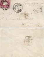 Portugal 1872 Carta C/ Selo De 25 Reis D. Luís I.Fita Direita, Circulado De Faro ( 5-3(?)-1872) P/ Lisboa. - 1862-1884 : D.Luiz I
