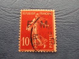 """1906    -FRANCHISE MILITAIRE  - N°   5    Oblitéré   """"  10c Rouge   """"       Cote   1 Net        0.30 - Militärpostmarken"""