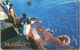 Maldives - MAL-C-23A, Fishermen And Swimmers, Fishery, 2/02, Used As Scan - Maldives