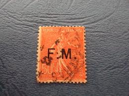 """1929    -FRANCHISE MILITAIRE  - N° 6      Oblitéré   """"   50 C Rose  """"       Cote    1  Net        0.30 - Militärpostmarken"""