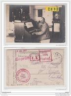 9687  AK/PC/CARTE PHOTO 2848 POSTCARD W.W.1 CAMP DE PRISONNIERS A WIESA ORGANISTE DE LA CHAPELLE CACHET CAMP TAXEFREI - Annaberg-Buchholz