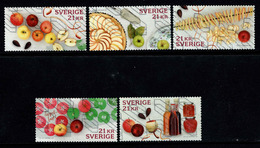 Zweden,  Yv  3167-71 Jaar 2017, Hoge Waarden, Reeks,  Mooi Gestempeld, Zie Scan - Schweden