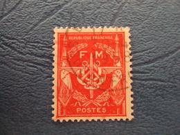 """1946    -FRANCHISE MILITAIRE  - N°  12     Oblitéré   """"  Rouge   """"       Cote  0.30   Net        0.10 - Militärpostmarken"""
