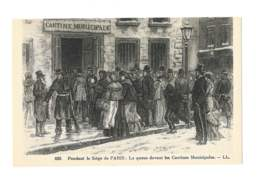 Pendant Le Siège De Paris - La Queue Devant Les Cantines Municipales - 5546 - Histoire