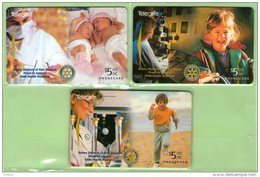 New Zealand - 1995 Rotary - Child Health - Set (3) - NZ-F-29/31 - Mint - Neuseeland