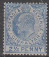 GIBRALTAR - 1907 2½d King Edward VII. Scott 55. Mint Light Hinge - Gibraltar