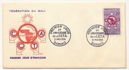 MALI => FDC - Xeme Anniversaire De La C.C.T.A. (Coopération) - 21 Mai 1960 - BAMAKO - Mali (1959-...)