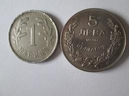 Lot Of 2 Coins:Finland 1 Markka 1922 + Bulgaria 5 Leva 1930(in Very Good Conditions) - Finlande