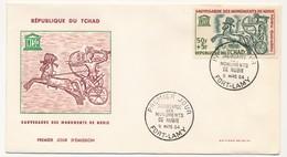 TCHAD => 2 FDC - Sauvegarde Des Monuments De Nubie - 9 Mars 1964 - Fort Lamy - Tschad (1960-...)