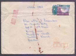 Unusual Odd Shape, DIAMOND HOLOGRAM, Stamp Use On Postal History Cover From AUSTRALIA, Used 1996 - Hologrammes