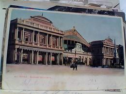 ROMA STAZIONE GARE CENTRALE VECCHIA Retro Vino Protto Pubblicitaria Ditta Giacomo Protto VB1910 GX5895 - Transports
