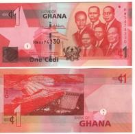 GHANA  New Date  2017  1 Cedis Pnew  (P37g)..    2017     UNC - Ghana