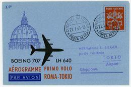 Aerogramm 1961 Rom - Tokio LF 8 - Luftpost