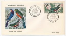GABON => 2 FDC - Oiseaux (Poste Aérienne) - 7 Octobre 1963 - Libreville - Gabon
