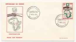 CONGO => FDC - Coopération - 7 Novembre 1964 - Brazzaville - FDC
