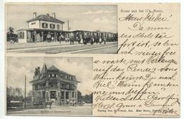 Gruss Aus INS Bahnhof Mit Bahn Gel. 1903 Ambulant Nach Roggwil (Bern) - BE Berne