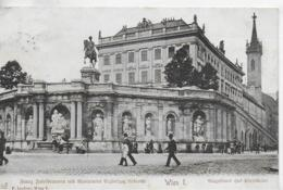 AK 0087  Wien - Franz Josefbrunnen Mit Monument Erzherzog Albrecht & Augustiner Hof-Pfarrkirche Um 1907 - Wien Mitte