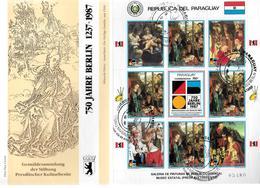 PARAGUAY  FDC    1988  750 Ans De Berlin  Monuments Tableaux Nativité - Madones