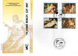 PARAGUAY  FDC    1988  750 Ans De Berlin  Monuments Tableaux Nus - Nudes