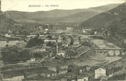 30  BESSEGES - VUE GENERALE (pli D' Angle) (ref 3164) - Bessèges