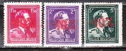 724N/P**  Leopold III Col Ouvert Surchargé -10% - LOT - Série Complète - MNH** - LOOK!!!! - 1946 -10%