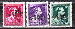 724N/P**  Leopold III Col Ouvert Surchargé -10% - MENIN - Série Complète - MNH** - LOOK!!!! - 1946 -10%