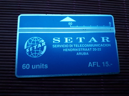 Landis & Gyr Phonecard 60 Units Aruba 110 A Used Rare - Aruba