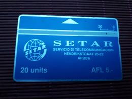 Landis & Gyr Phonecard 20 Units Aruba 110 B Used Rare - Aruba