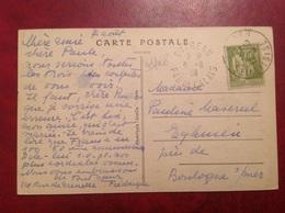 Seul Sur Lettre 75c Paix Outreau - 1921-1960: Periodo Moderno