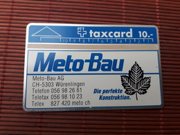 Phonecard Meto -Bau Zwitserland 908 B (Mint,Neuve)  Rare - Schweiz