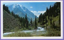 Kazakhstan. Postcards. Talgar River (006). The Mountains - Kazakhstan