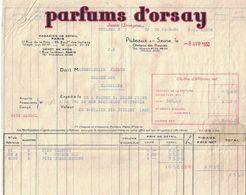 1930 PARFUMS D'ORSAY PUTEAUX SUR SEINE CHATEAU DES BOUVETS A MADEMOISELLE PACAUD GRANDE RUE CHAROLLES BERTHELON - 1900 – 1949