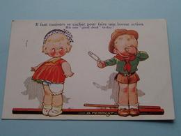 Il Faut Toujours Se Cacher Pour Faire Une Bonne Action. His One GOOD DEED Today ( Tempest Kiddy Serie N° 400 ) 1934 ! - Humour