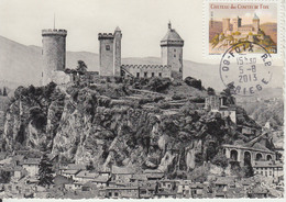 Carte-Maximum FRANCE N°Yvert AA715 / Château De Foix - Cartoline Maximum