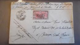Lettre 1920 Moyen Congo Francais Cachet Ouesso - Frans-Kongo (1891-1960)