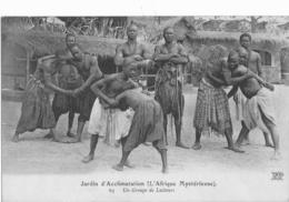 JARDIN D ACCLIMATATION  -  L AFRIQUE MYSTERIEUSE  -  UN GROUPE DE LUTTEURS - Parcs, Jardins