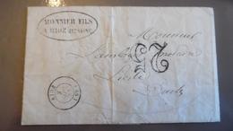 Courier 1853 Cachet Rioz Haute Savoie - Storia Postale