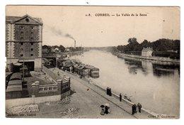 CPA Corbeil Essonnes Essonne 91 La Vallée De La Seine Grands Moulins Péniches à Quai éditeur Mardelet N°218 - Corbeil Essonnes