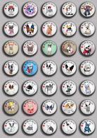 LOVE DOG France Bulldog BADGE BUTTON PIN SET 1 (1inch/25mm Diameter) 35 DIFF - Tiere