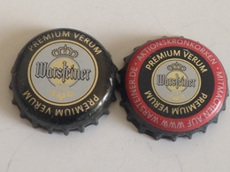 Lote 2 Chapas Kronkorken Caps Tappi Cerveza Warsteiner.  Alemania - Bier