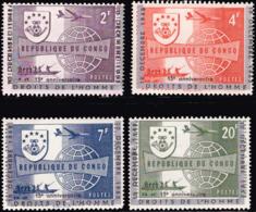 Congo 0520/23**  Droits De L'Homme MNH Surcharge Déplacée - République Du Congo (1960-64)