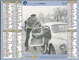 Calendrier Du Facteur 2011 - Photos N&B De Robert DOISNEAU ( Départ En Vacances Et Simone Bicheron Mannequin 1955 ) - Grand Format : 2001-...