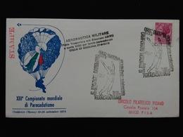 REPUBBLICA - Campionato Mondiale Paracadutismo - Busta Elitrasportata - Annullo Arrivo + Spese Postali - 6. 1946-.. Repubblica