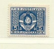 YOUGOSLAVIE  ( EU - 1354 )  1946  N° YVERT ET TELLIER  N° 444   N** - Neufs