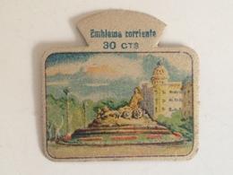 Emblema De Auxilio Social De 30 Cts De Madrid, Cibeles. Serie M. Nº 3. Guerra Civil Española. 1936-1939. Bando Nacional. - 1939-45