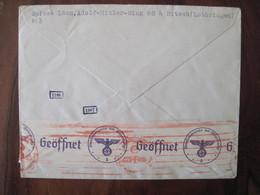 France 1941 Censure Lettre Enveloppe Cover OKW Geöffnet Guerre 1939 / 1945 Ww2 Occupation Allemagne Lothringen Lorraine - Marcofilie (Brieven)
