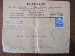 France 1940 Censure Lettre Enveloppe Cover OKW Geöffnet Guerre 1939 / 1945 Ww2 Occupation Allemagne Elsass Alsace - Oorlog 1939-45