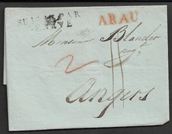1811 FALTBRIEF - ARAU Nach ANGERS ( FRANKREICH ) - GRENZÜBERGANG SUISSE PAR GENEVE. - ...-1845 Vorphilatelie